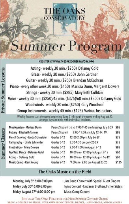 Conservatory Summer Flyer